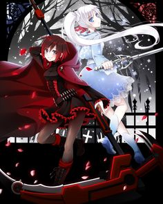 anime personalized ruby rose huntress RWBY Personalised Birthday Card