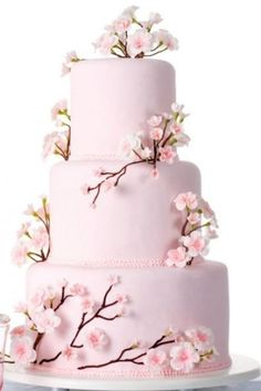 Wedding cakes spring flowers cherry blossoms 26 ideas for 2019 Pretty Cakes, Beautiful Cakes, Cherry Blossom Party, Cherry Blossoms, Bolo Fack, Wedding Cake Fresh Flowers, Quinceanera Cakes, Amazing Wedding Cakes, Unique Cakes