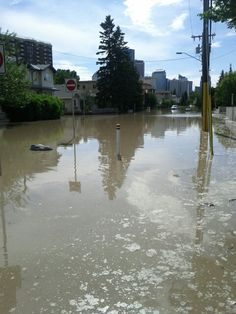 Calgary flood 2013, Bridgeland