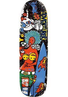 Foundation Adventurer, Deck, multicolored Titus Titus Skateshop #Deck #Skateboard #titus #titusskateshop