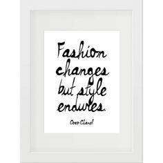 Coco fashion quote print - hardtofind.