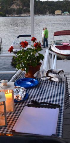 Dinner on the Dock   www.AfterOrangeCounty.com