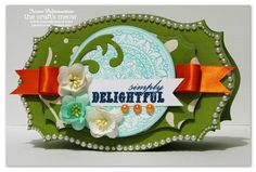 Love this card by Iwona Palamountain using Want2Scrap Bling.