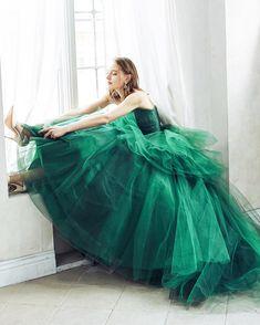 Princess Shot, Modern Disney, Girls World, Green Dress, Fashion Dresses, Tulle, Ballet Skirt, Gowns, Slytherin