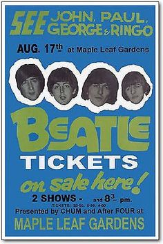 The Beatles Toronto Concert Poster, 1966