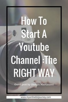 How to start a YouTube channel the right way : YouTube is the second largest search engine on the planet. Some people even prefer it over TV. So why shouldn\'t you use it ? If you\'ve been thinking of starting a YouTube channel here\'s how to get started the right way.