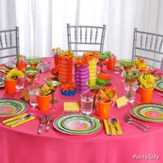 Casual Fiesta Wedding Party Decoration Ideas in Bright Colors - Party City Bridesmaid Luncheon, Bridal Luncheon, Candy Buffet Supplies, Mexican Bridal Showers, Wine Favors, Fiesta Party Decorations, Party Buffet, Holiday Candy, Mexican Party