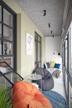 Inspiration for Small Apartment Balconies in the City., Inspiration for Small Apartment Balconies in the City - Page 13 of 43 Interior Balcony, Apartment Balcony Decorating, Apartment Balconies, Interior Decorating, Interior Design, Decorating Ideas, Small Balcony Decor, Small Outdoor Spaces, Balcony Design