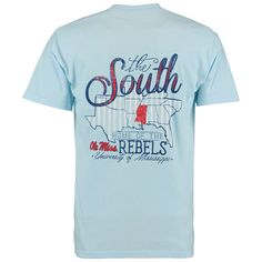 Ole Miss Rebels The South Comfort Colors T-Shirt - Light Blue