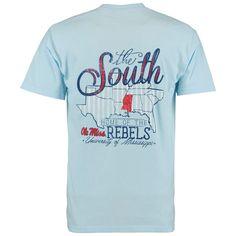 Ole Miss Rebels The South Comfort Colors T-Shirt - Light Blue
