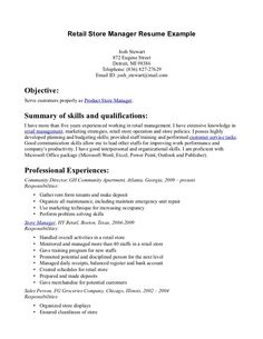 Retail Sales Manager Resume Grocery Store Resume Sample  Grocery Store Resume Sample Will
