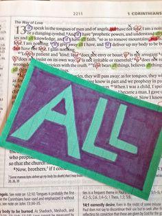 1 Corinthians 13 30-Day study Day 6 All