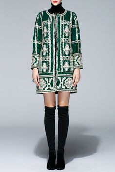 Wool Embroidered Coat -- GET THIS ONE