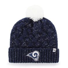 4f91188bcdc83 Los Angeles Rams Women s 47 Brand Navy Fiona Cuff Knit Hat Los Angeles Rams  Hat