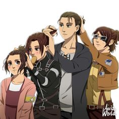 Attack On Titan Comic, Attack On Titan Fanart, Cute Anime Character, Character Art, Manhwa, Attack On Titan Aesthetic, Funny Anime Pics, Levi X Eren, Fan Art