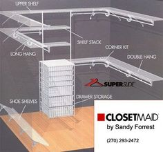 For the Home The Amazing Ideas Closet Corner Shelves Design Best Ideas About Wire Closet Shelving On Corner Closet Shelves, Corner Closet Organizer, Wire Closet Shelving, Wire Shelves, Bedroom Shelves, Walk In Closet Design, Closet Designs, Organizing Walk In Closet, Closet Layout