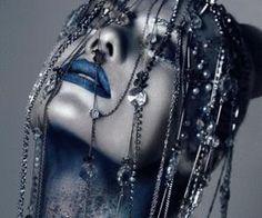 #editorial #blue #lipstick