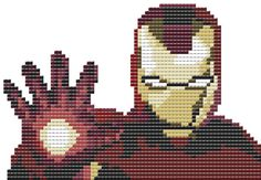 Iron Man Marvel Counted Cross Stitch Pattern PDF door LeiaPatterns