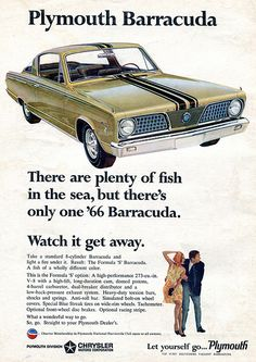 1966 Plymouth Barracuda Advertising Car and Driver Magazine January 1966
