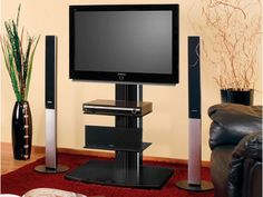 This is revolving tv standdesigned for hanging LED or LCD from 32'' up to 50'' with max. weight up to 40kg. Screen mount included - thanks to it, you can turn your screen 15º left or right.