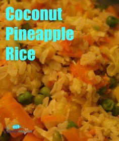 Coconut Pineapple Rice: Perfect For Holiday Entertaining #vegetarian #recipes #AD