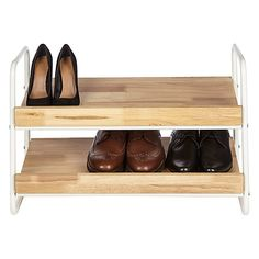 Buy House by John Lewis 2 Tier Shoe Rack Online at johnlewis.com £45 H44.5 x W66.5 x D32cm