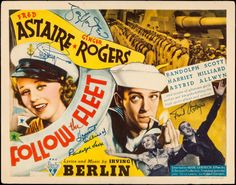 Movie Posters:Musical, Follow the Fleet (RKO, 1936). Autographed Title Lo... Image #1