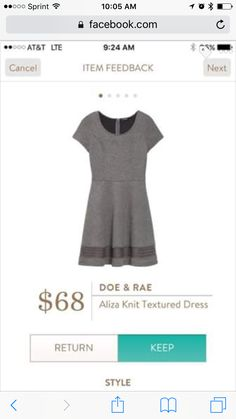 Doe & Rae Aliza Knit Textured Dress {SL:  I like this cut and the color is…