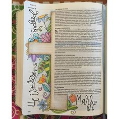 Photo from polkadotpaintbrush / Easter Day bible Journal