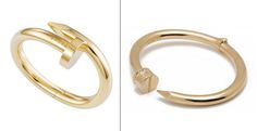 Left: Cartier Juste un Clou Bracelet, $36500   Right: CC SKYE Hinge Nail Bangle, $195