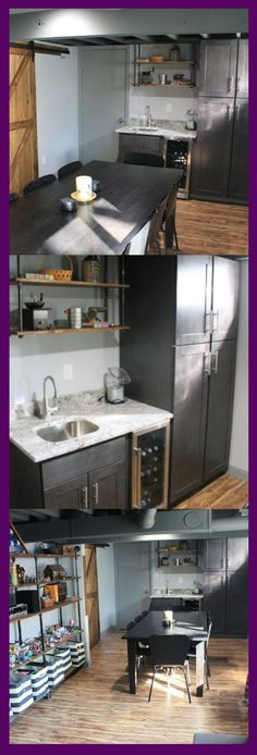 Though in reality, many tend to leave the basement unkempt. Instead of being specially-functioned, may be a good to change it become basement kitchen ideas. Small Basement Kitchen, Rustic Basement, Modern Basement, Kitchen On A Budget, Basement Ideas, Kitchen Ideas, Kitchen Layout, Kitchen Design, Industrial Dining