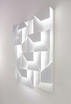 Angular Shadowbox Illuminators - The Wall Shadows Lighting by Charles Kalpakian Plays With Dimension (GALLERY)