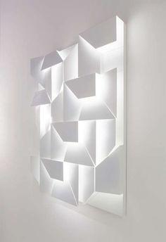 Angular Shadowbox Illuminators - The Wall Shadows Lighting by Charles Kalpakian Plays With Dimension (GALLERY)