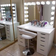 DIY VANITY MIRROR WITH LIGHTS [UNDER $100!!!] || SimplySandra ...