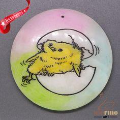 COLORING ANIMAL CHICK PENDANT FOR NECKLACE GEMSTONE JEWELRY ACCESSORYZL7000009 #ZL #Pendant