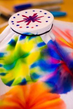 sharpie tie-dye shirts. Super easy.