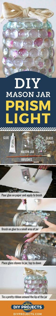 Mason Jar Crafts | Prism Candle Light | DIY Projects for Kids & Adults.