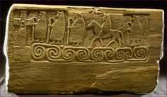 The Monk Stone - a 1,300 year old Pictish altar with a carving of Christian missionaries crossing the sea Photo © Didier Piquer © Khanoppée