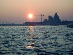 Venice 2010, best trip. In the boat, sunset.