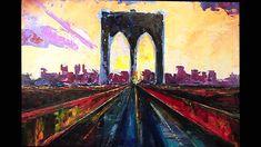 Time-lapse video of painting of Brooklyn Bridge by Natasha Mylius Impressionism, Fine Art, Time Lapse Video, Canvas, Painting, Art, Portrait, Oil Painting Demos