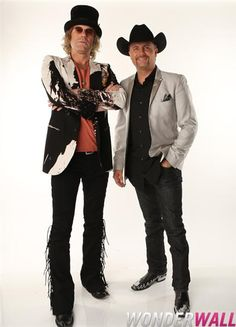 Big & Rich poses at Wonderwall's exclusive photo booth backstage at the 2012 CMT Music Awards in Nashville, Tenn., on June 6, 2012.
