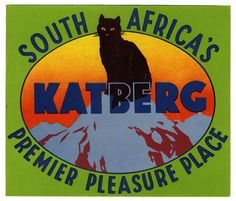 Luggage label, ca. 1950: Katberg - South Africa