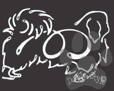 K Line Pekingese Dog Car Window Decal Tattoo http://doggystylegifts.com/products/k-line-pekingese-dog-car-window-decal-tattoo