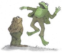 Frog and Toad Activities (First Grade)  In 2nd grade we wrote our own Frog and Toad story books by telling them to the reading specialist and then drawing the pages.