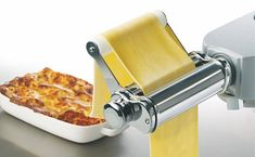 Introducing the Kenwood pasta roller kitchen machine attachment, with four cutters to choose from, enabling you to create a range of popular, basic . Pasta Per Ravioli, Kenwood Cooking, Kitchenaid Artisan, Kitchen Machine, Cooking Chef, Pasta Machine, Food And Drink, Recipes, Dryers