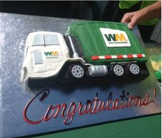 Waste Management truck cake in Simi Valley, California