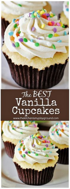 When it comes to cupcakes, these tender vanilla cupcakes with fluffy vanilla frosting will be your new best friend!