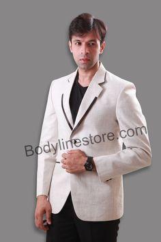 NOTCH LAPEL LINEN BLAZER BL5043  #blazer #blazerformen #suits #style #weddingblazer #blazerforwedding Linen Blazer, Blazer Suit, Line Store, Contrast Color, Blazers For Men, Linen Fabric, Formal Wear, Satin, Comfy