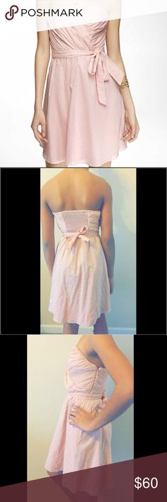 """PRICE DROP 🙋🏽 Dress by Express Powder pink """"bridesmaid"""" dress 😍 hasn't been worn out ! Tags were unfortunately taken off when first bought. Price negotiable! Express Dresses Strapless"""