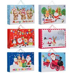 Giant Landscape Christmas Bags. This giant bag is ideal for larger Christmas presents and is available in 6 assorted designs.